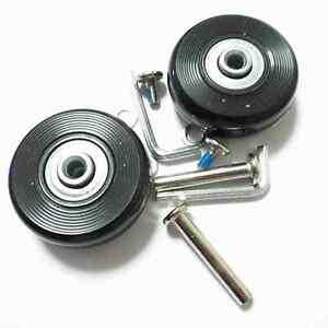 2 Set Luggage Suitcase Replacement Wheels Axles Deluxe Repair OD 50mm NEW