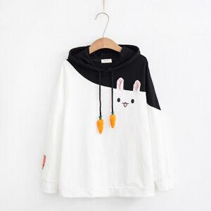 Kawaii Clothing Ropa Cute Bunny Rabbit Fleece Hoodies Sweatshirt Pullover