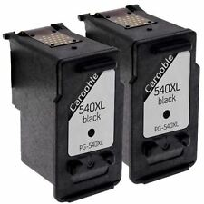 2x Remanufactured PG 540xl Black Ink Cartridges - for Canon Pixma Mx525