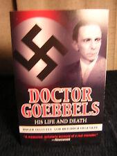 Doctor Goebbels ~ Manvell and Fraenkel ~ 2010 ~ PB ~ Used