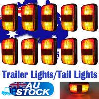 10X RED AMBER LED SIDE MARKER TRUCK TRAILER CLEARANCE LIGHTS LAMPS 12V 24V
