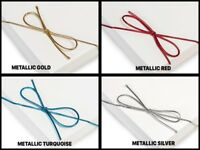 "Metallic Stretch Loop 1/16"" Elastic Cord w/ Bow CHOOSE SIZE, COLOR & PACKAGE"