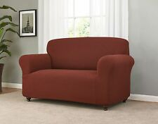 JERSEY FITTED BURGUNDY SLIPCOVER 4 LOVESEAT SOFA COUCH CHAIR & RECLINER SIZES XX