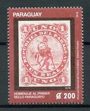 Paraguay 2018 MNH First Postage Stamp 1v Set Stamps-on-Stamps Philately Stamps