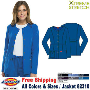 Dickies Scrubs XTREME STRETCH Women's Snap Front Warm-up Jacket 82310
