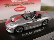 1/43 Kyosho Shelby series 1 plata/rojo descapotable 03131sr