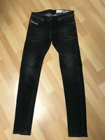 NWD Mens Diesel TROXER Stretch Denim R9F66 BLACK Slim W29 L32 H5.5 RRPR150