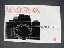 Minolta Xk Genuine 1974 Camera Instruction Book / Manual / User Guide