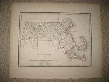 RARE EARLY IMPORTANT ANTIQUE 1835 MASSACHUSETTS BRADFORD MAP BARNSTABLE COUNTY