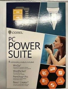 Corel PC Power Suite PC WinZip, Wordperfect,Paint shop Pro, Roxio creator NEW!