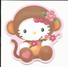 Sanrio Hello Kitty Gift Card Money Holder Monkey Set of 4 With Envelope