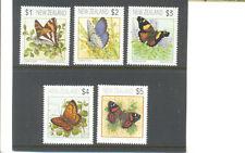 New Zealand-Butterflies set of 5 mnh-1635-9