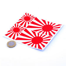 "Japanese Rising Sun Bleu Marine Style Drapeau 4x Stickers 3"" & 2"" JDM stickers HONDA etc"