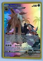 Stoutland SECRET FULL ART ULTRA RARE 248/236 SM Cosmic Eclipse Pokemon HOLO NM
