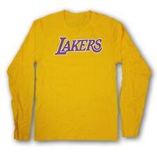 "Los Angeles Lakers Men's LeBron James 23"" Yellow Long Sleeve T-Shirt NWOT"