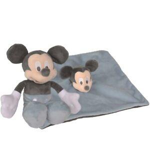 Confezione Regalo Peluche + Doudou Disney Topolino per Neonato inMorbido Tessuto