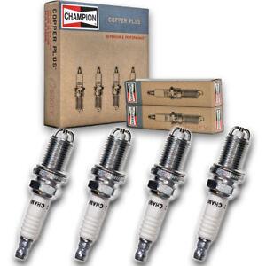 4 pc Champion Copper Plus Spark Plugs for 1998-2003 Volkswagen Beetle 2.0L un