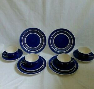 ❀ڿڰۣ❀ WHITTARD of CHELSEA CLIPPER FLOWER STAR & STRIPES 4 Cups, Saucers & Plates