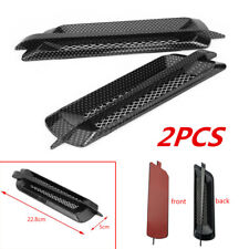 2PCS Carbon Fiber Look Car Side Air Flow Vent Fender Cover Intake Grille Sticker