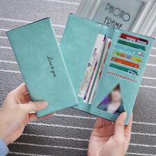Bifold Women Girl Clutch PU Wallet Long Card Holder ID Card Case Purse Handbag