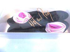 Vintage Dot and Peg Rose Slippers