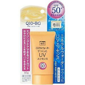 SHISEIDO Senka Aging Care UV Mineral Water Sunscreen SPF50+ PA++++ 50g Japan F/S