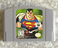 N64 Superman DC Nintendo 64 Authentic Cartridge Cleaned & Tested FREE SHIP!