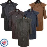 Portmann Mens & Ladies Deluxe Stockman Long Cape Wax Jacket Coat & Hood XS - 3XL