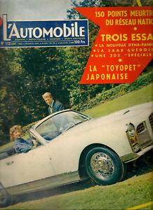 L'AUTOMOBILE 112 1955 GORDINI 2.5 PANHARD DYNA Z PEUGEOT 203 SAAB 92 La PHOENIX