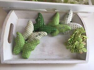 Schmetterlinge in Grün Baumwolle Frühjahrs Deko zum Muttertag Landhaus tilda