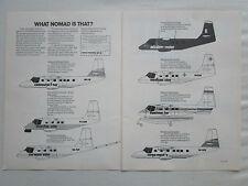 8/1980 PUB GAF AUSTRALIAN AIRCRAFT NOMAD SEARCHMASTER SURVEY CARGO ORIGINAL AD