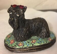 More details for rare 70s basil matthews bronze maltese,yorkshire terrier, yorkie,silkie dog fig