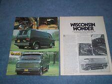 "1976 Dodge Tradesman Vintage Custom Van Article ""Wisconsin Wonder"" Sportsman"