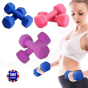 Dumbbells Weights Neoprene Home Gym Fitness Aerobic Exercise Iron Pair Hand