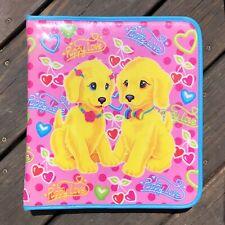 Vintage Lisa Frank Puppy Love 3 Ring Binder Full Zipper Keeper Lab Retriever Dog