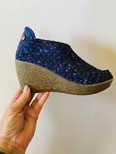 bernie mev. Women's Navy Blue Sexy Wedge Rubber Platform Comfort Shoes 37/5.5