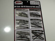 HO ATLAS # 0170 CODE 100/83 UNIVERSAL RAIL JOINERS NS 6 PACK 48 EACH PACK 288
