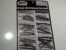 HO ATLAS # 0170 CODE 100/83 UNIVERSAL RAIL JOINERS NS 6 PACK 48 EACH PACK 288