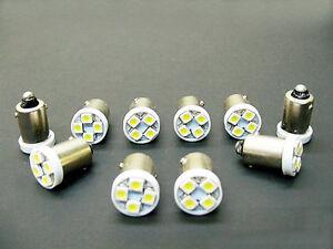 10 Hudson BRIGHT White 6V LED Instrument Panel 55 BA9S 316 Light Bulbs 47 (146)