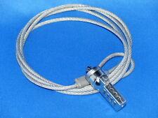 """Zahlenschloss mit Drahtseil-Kabel für Laptop etc. mit """"Kensington-Lock"""""""