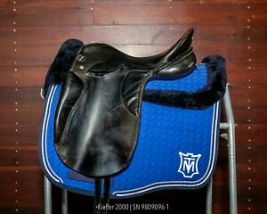 """Kieffer 2000 Dressage Saddle (Size 1 - 17"""") - great condition, new girth points"""