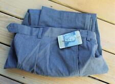 New Big&Tall COMFORT ZONE 65% Polyester Grey Dress Pants 44/32