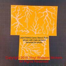 LIGHTNING Camo Vinyl Stencil, For Duracoat, Cerakote, Krylon, New Design