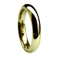 5mm 9ct Yellow Gold Court Comfort Wedding Rings Bands UK HM Extra Heavy 375 New