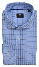 BOGNER CHEMISE JACQUES REQUIN COL ITALIEN BLEU CLAIR bleu à carreaux Taille 40