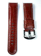 TW STEEL TWB117,  BROWN CROCO LEATHER STRAP, STEEL. FOR GRANDEUR 48mm CASE
