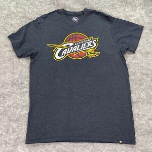 Cleveland Cavaliers T Shirt Men Medium Gray Red Gold '47 Short Sleeve Graphic
