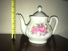 Excellent Condition! Collectible Floral Pattern Gold Accenting Small Tea Pot