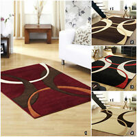SMALL LARGE RED BEIGE GEOMETRIC RAPELO PALERMO MODERN QUALITY RUG MAT SALE PRICE