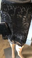 MONSOON Womens Above Knee Pencil Skirt Party Uk Size 10 Black Lace Detail Exc